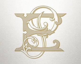 Wedding Monogram Design - EP PE - Wedding Monogram - Digital