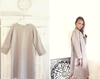Linen Dress Violet Ice