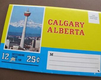 Vintage Calgary Alberta Accordion Postcard set / Traveltime Production  / Calgary folding photo postcard