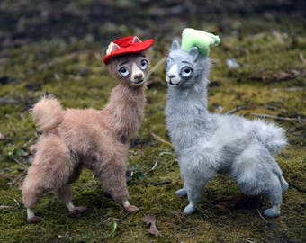 Llamas in hats, Carl, I just wanted my hand to eat,