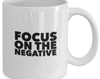 FOCUS On The NEGATIVE - WAITRESS The Musical Coffee Mug - Broadway Fan Gift - 11 oz white coffee tea cup