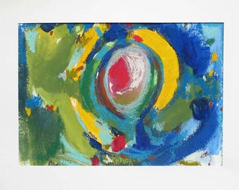 abstrat original drawing made with pastels