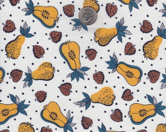 Mid Century Novelty Fabric Cotton Cloth Fruit Conversational Pears Material