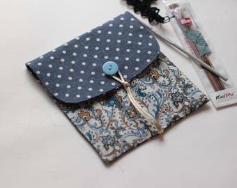 Double point needle case/Crochet hook/15cm DPN case Knitting needle case Sock needles orzanizer Knit Storage Knitpro/HiyaHiya/Pony/ChiaoGoo