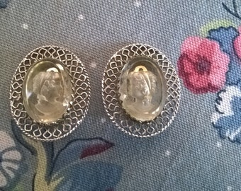 Vintage Whiting And Davis Clip Earrings