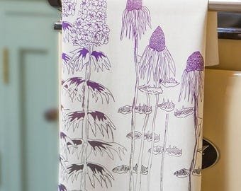 Cottage Garden Tea Towel.  Original Design Screen printed in the UK on 100% cotton...The perfect gift for any kitchen or household