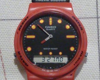 Vintage Analog Digital Casio Watch