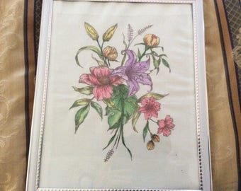 Embroidered & Painted Picture