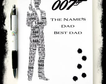 James Bond inspired Greeting card for Fathers Day