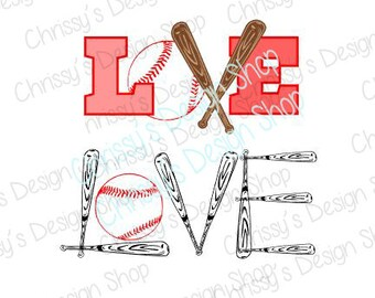 Love baseball svg / baseball cut file / baseball words svg / baseball clip art / baseball bat svg / eps / dxf / pdf / love sports / vinyl