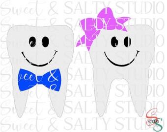 Tooth Fairy Bag teeth boy & girl digital file