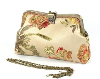 20cm Kiss lock purse, Purses & handbag, Cosmetic bag, clutch bag, Metal frame purse  K1664
