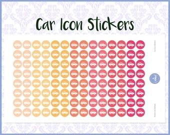 Car Stickers | Planner Stickers | Journal Stickers | Diary Stickers - Erin Condren, Happy Planner, Kikki K, Filofax
