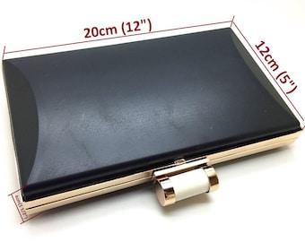 """8 """"x 5"""" (20x12cm) iPhone 8 Plus flache Kiste Kupplung Rahmen mit Kunststoff-Abdeckungen für Mode oder Hochzeit Verband Designer XL35B"""
