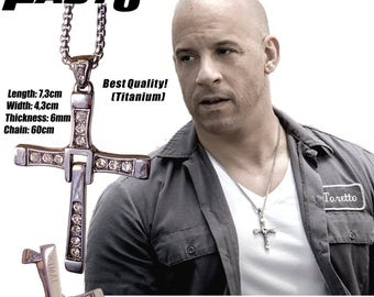 Fast8 - FREE engraving on the back - The famous cross of Dominic Toretto from Fast and Furious Personalized!