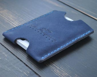 Leather credit card sleeve, business card sleeve, leather card sleeve, slim card sleeve, thin card sleeve, slim card case, leather card case