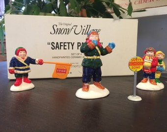 Dept 56 Snow Village Safety Patrol Christmas Village accessories