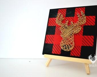 Framework,string art,3d wall art, baby shower, Panache, deer, Lumberjack
