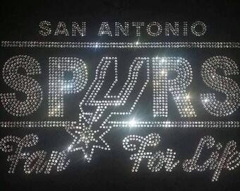 San Antonio Rhinestone Shirt - Spurs For Life