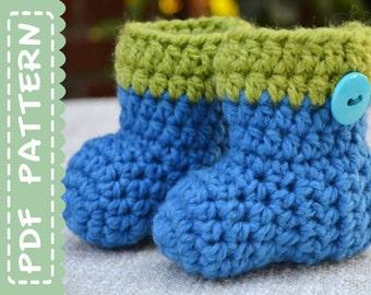 CROCHET Pattern, Newborn Baby Booties, Baby Boots Patterns, Crochet Boots Pattern, Crochet Baby Booties, Newborn Boots PDF, PDF Patterns