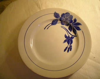 Round dish flat earthenware model Flore