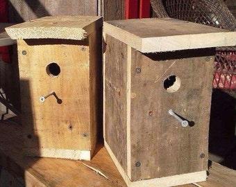 Rustic Wooden Birdhouse