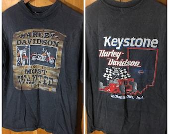 1986 Harley Davidson Most Wanted List T-Shirt