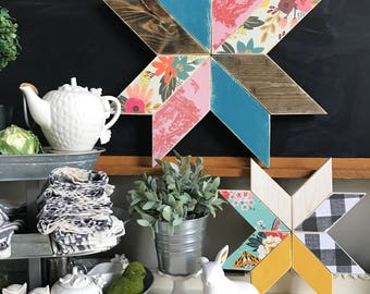 Wooden Pinwheel or Quilt Square