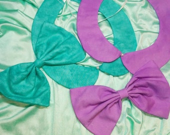 Bright Peter Pan Collar and Bow Set