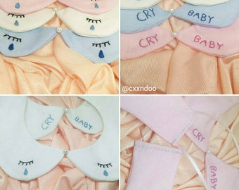 "Cry baby"" detachable Peter pan Collar"