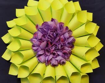 paper wreath, spring wreath