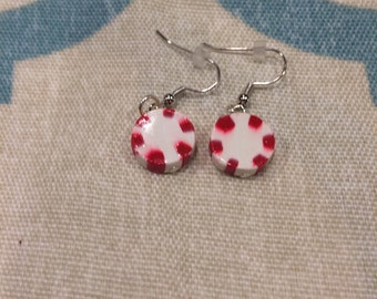Clay peppermint earrings