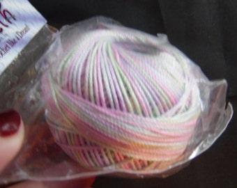 1 ball of Lizbeth Cordonnet 100% Egyptian Cotton Thread Size 3  Color is Easter Egg