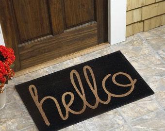 """Hello Coir Doormat (18""""x30"""")"""