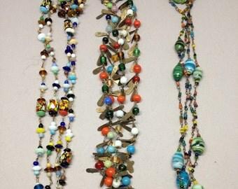 Italian Beaded Necklace Vintage
