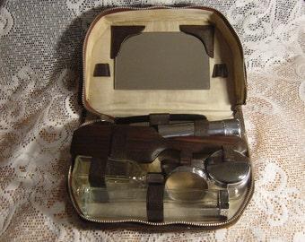 vintage gentlemans travelling vanity kit/grooming kit