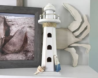 Lighthouse - Nautical Decor, Lighthouse Decor, Wooden Lighthouse, Nautical, Ocean Decor, Beach Decor
