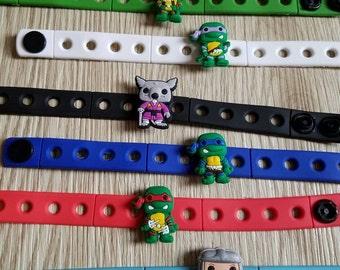 10  Teenage Mutant Ninja Turtle Silicone Bracelets Party Favors