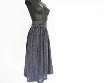 Retro Wool Skirt, UK14, Calf Length, Boho Skirt, Voluminous, Vintage Clothing
