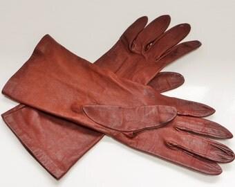 Vintage Dent Gloves, Leather, Ladies Gloves, Vintage Accessories, Tan Gloves, Vintage Clothing, Dent, Gloves