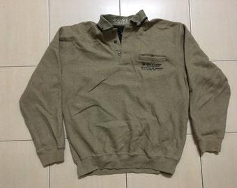 Vintage 90's Dunlop Sport Classic Design Skate Sweat Shirt Sweater Varsity Jacket Size LL #A549