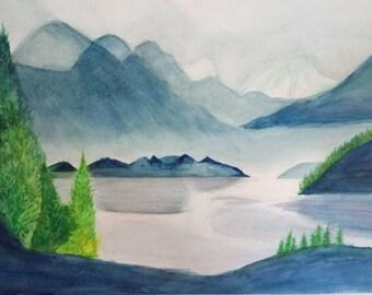 A3 (29.7 x 42cm)Original Watercolour painting