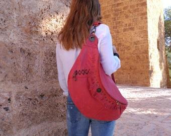 Bag Togo skin red.