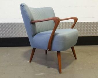 Vintage GERMAN Cocktail Armchair Chair Design Mid Century Renovated