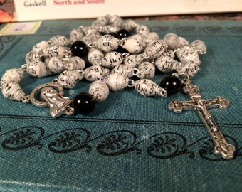 Bible Bead Rosary, Handmade Beads