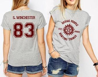 Supernatural shirt Sam Winchester shirt Jersey Unisex S - XXL