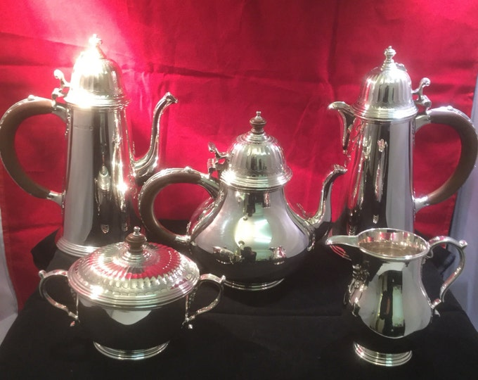 Featured listing image: Tiffany & Co Sterling Silver Five Piece Tea + Coffee Service - London - 1969