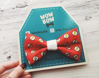 Flash bow tie | comic, superhero bow tie, red bow tie, bows, bow ties