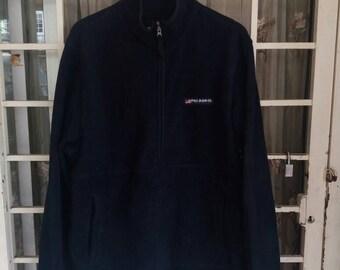 Vintage Polo jeans fleece sweatshirt half zipper/blue/polo  jeans n co