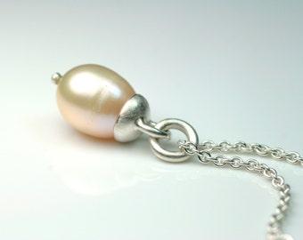 Pendant bead-Teardrop - 925 Silver unique FangFrisch designer jewellery hand made in Germany